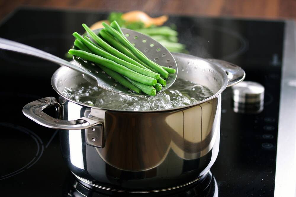Blanching When blanching, raw food is placed in boiling water or steam for 1-2 minutes and then...